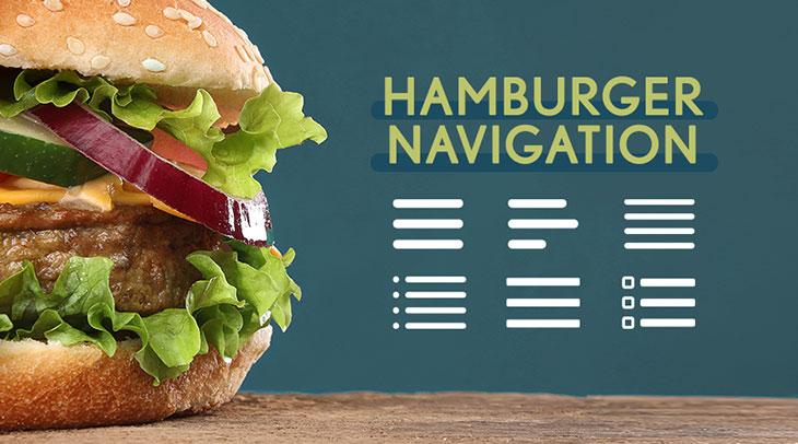 Hamburger Website Navigation